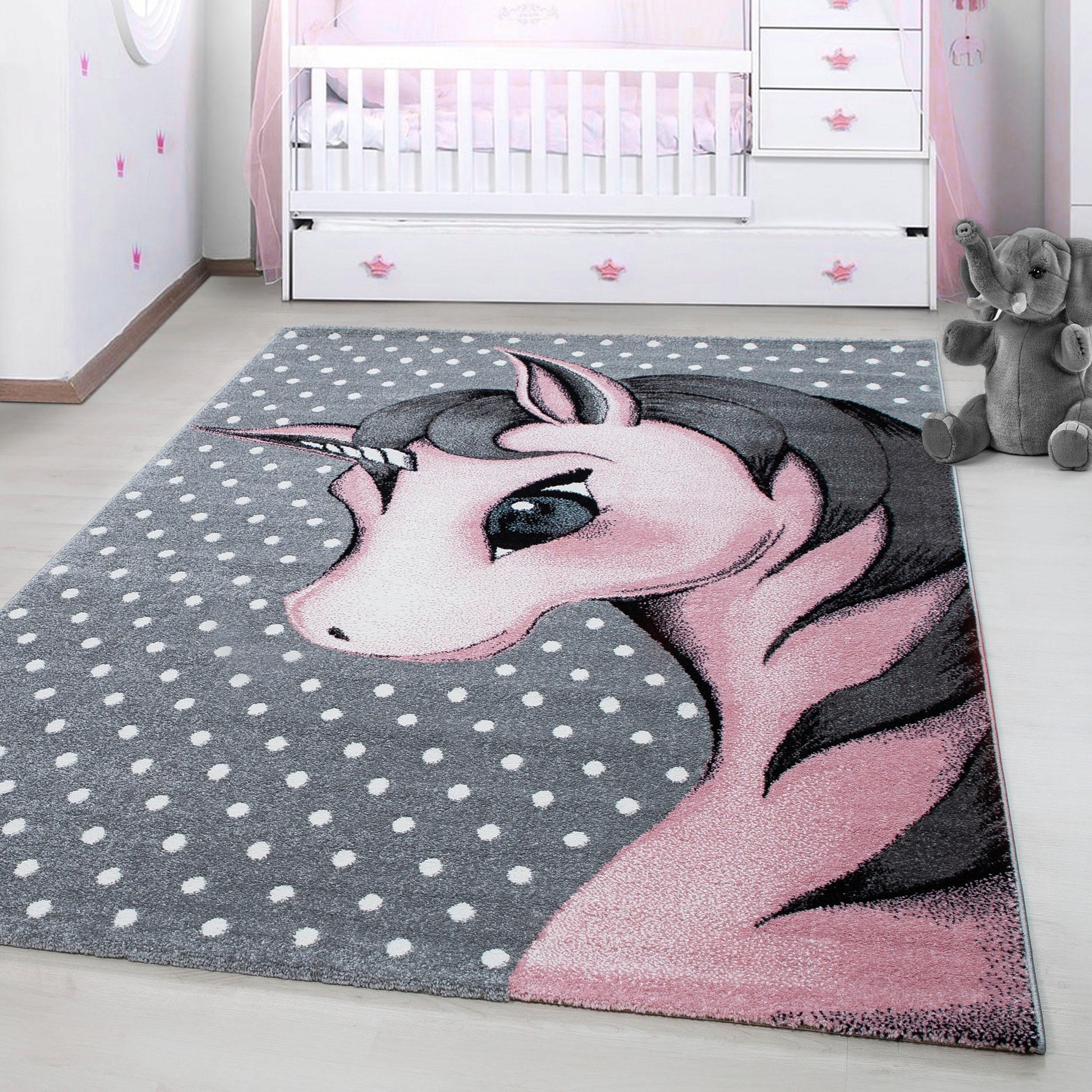 Kinderteppich Kids 590, Ayyildiz, rechteckig, Höhe 12 mm, Einhorn Motiv, Kurzflor online kaufen