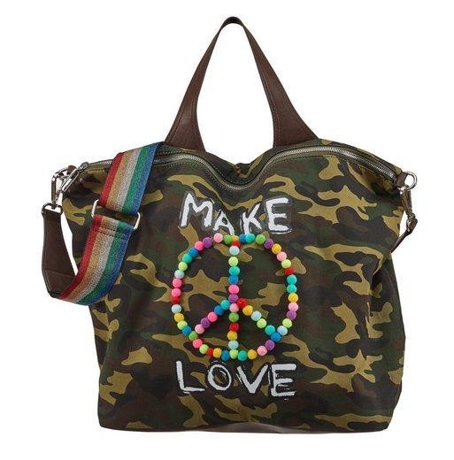 Stuff Und Maker Mit Shopper Bommeln »grafffity Love« Bunten Print rSqrY4w