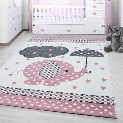 Kinderteppich »Kids 570«, Ayyildiz, rechteckig, Höhe 12 mm, Elefanten  Motiv, Kurzflor
