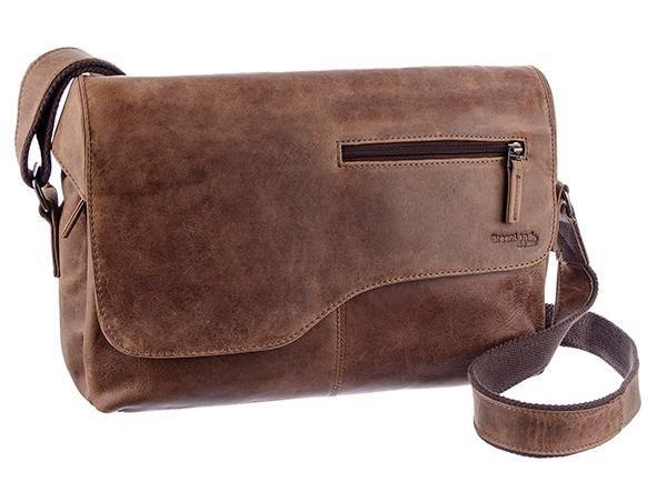 GreenLand Nature Messenger Bag »Montana«, aus Büffelleder im Vintage Look | Taschen > Business Taschen > Messenger Bags | Braun | GreenLand Nature