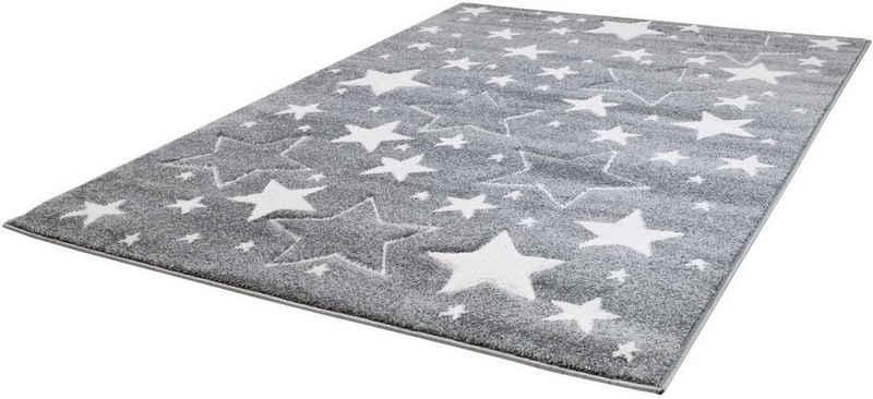 Kinderteppich »Bueno Kids 1325«, Carpet City, rechteckig, Höhe 13 mm, Sterne, handgearbeiteter Konturenschnitt
