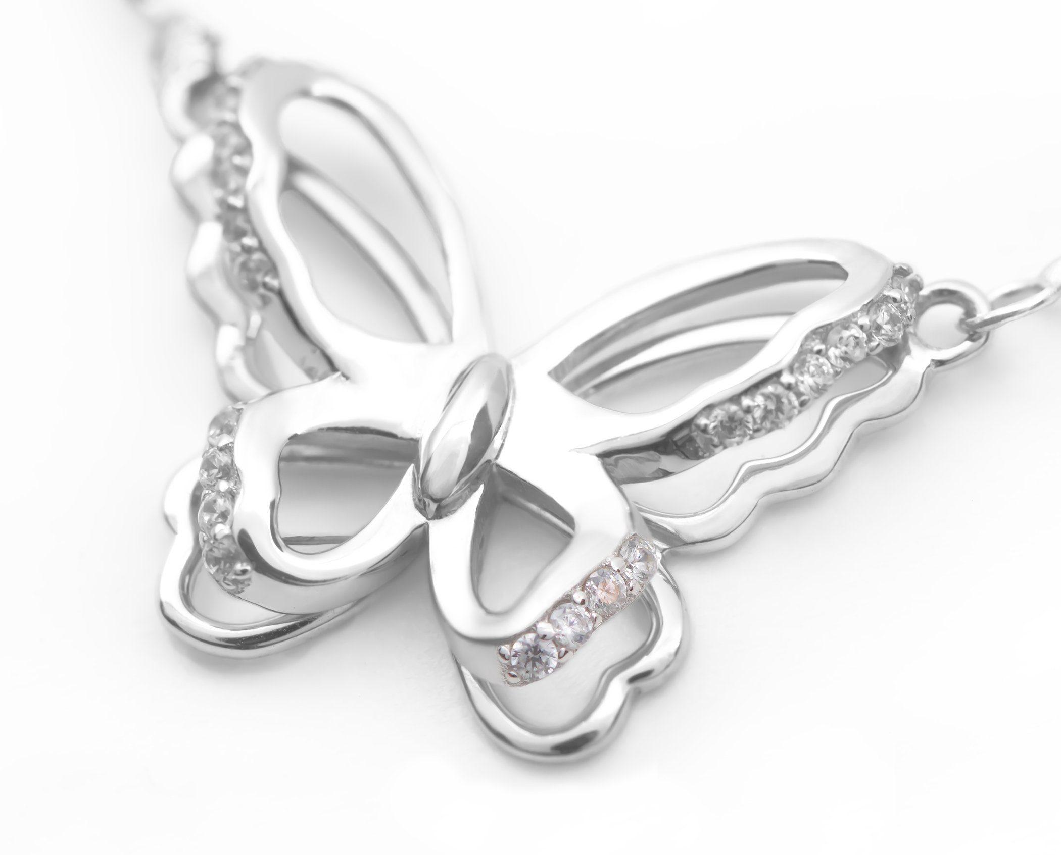Schmuck-Elfe Collier »Schmetterling 3D« 925 Silber