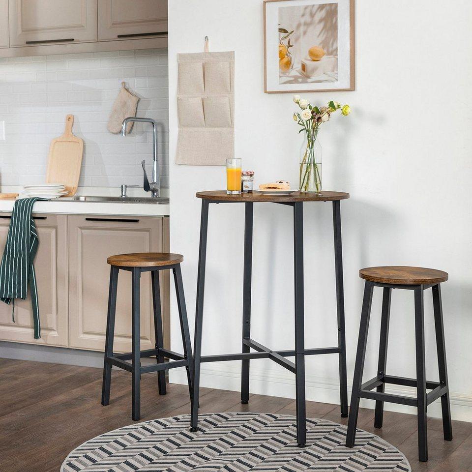 VASAGLE Stehtisch »LBT20X«, Stehtisch, Bartisch, Schreibtisch, runder  Küchentisch, Ø 20 x 20 cm, Wohnzimmer, Küche, einfacher Aufbau, stabil,