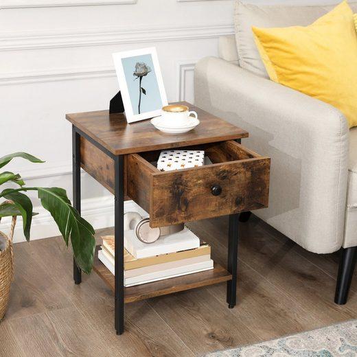 VASAGLE Nachttisch »LET55BX«, Nachtkommode, Beistelltisch, vintage