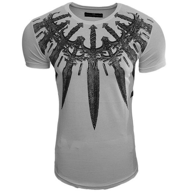 rusty neal -  Rundhals-Shirt mit coolem Frontmotiv