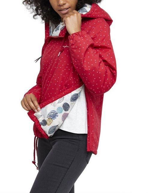 Damen Mazine Übergangsjacke mit gepunktetem Muster rot | 04049215965748