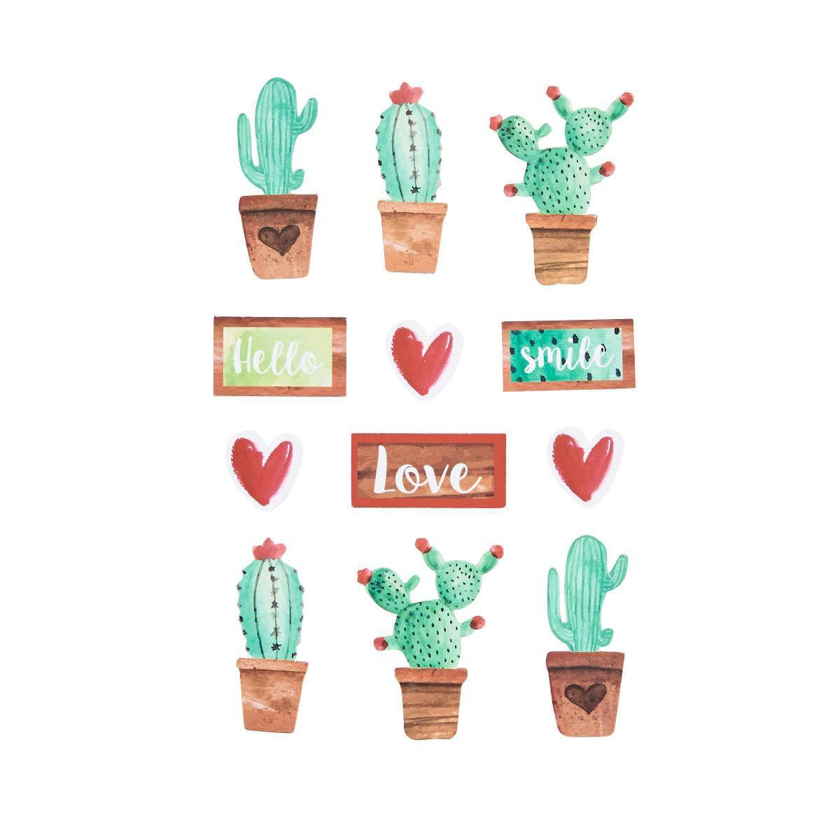 BUTLERS CACTUS »3D Sticker Cactus 15 Stück«