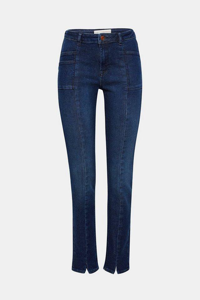 Esprit Schmale Stretch-Jeans mit Fronttaschen