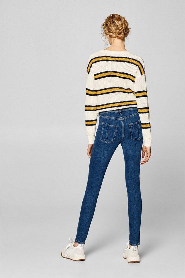 edc by Esprit Stretch-Jeans mit hohem Bund und zwei Knöpfen