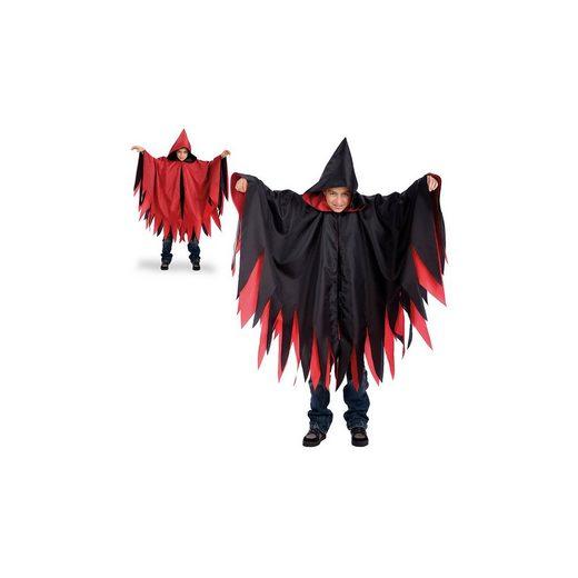 Kostüm Cape Dämon (Doppelseitig rot/schwarz)
