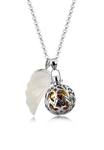 Nenalina Perlenkette »Engelsflüsterer Flügel Perlmutt 925 Silber«