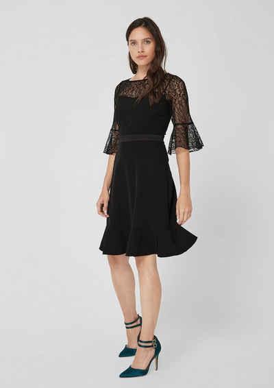 eafaa5dba219 s.Oliver BLACK LABEL Elegantes Kleid mit Spitzenpasse