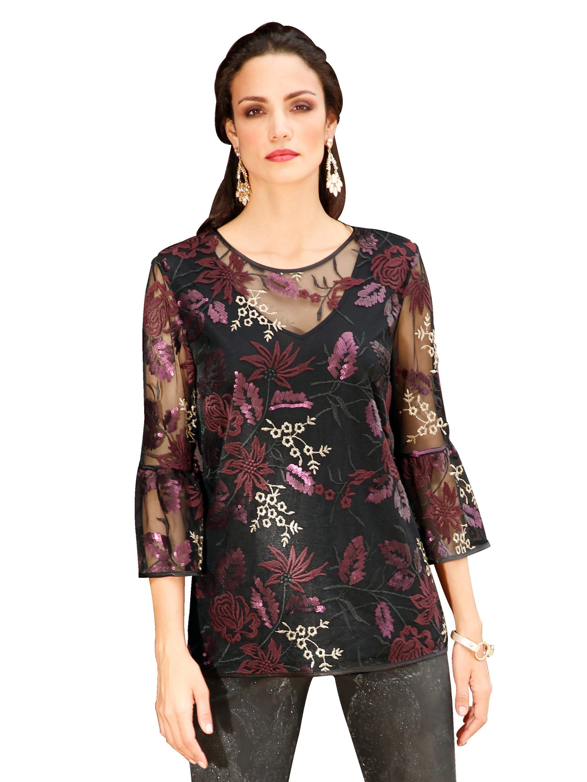 Amy Vermont Bluse allover floral