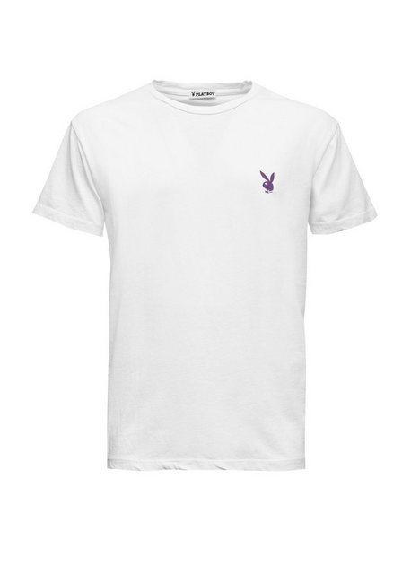 playboy -  Rundhals-Shirt mit coolem Rücken-Print