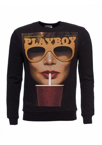 PLAYBOY Sportinio stiliaus megztinis su raštas...