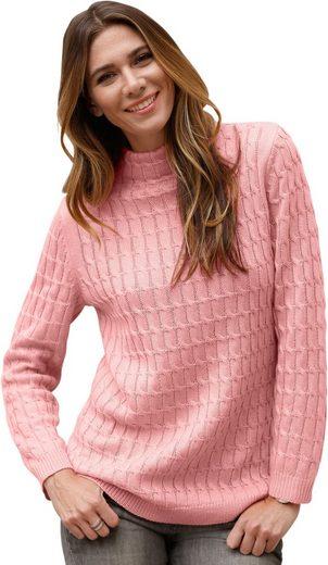 Classic Basics Pullover mit aufwändigem Zopfmuster