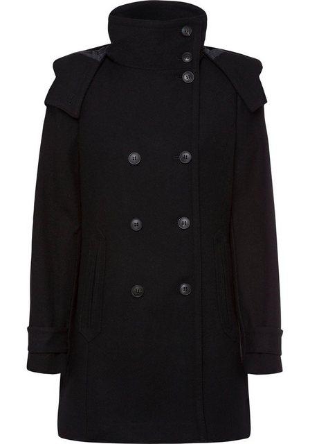 Damen Esprit Wollmantel mit doppelter Knopfleiste schwarz | 04060469902914