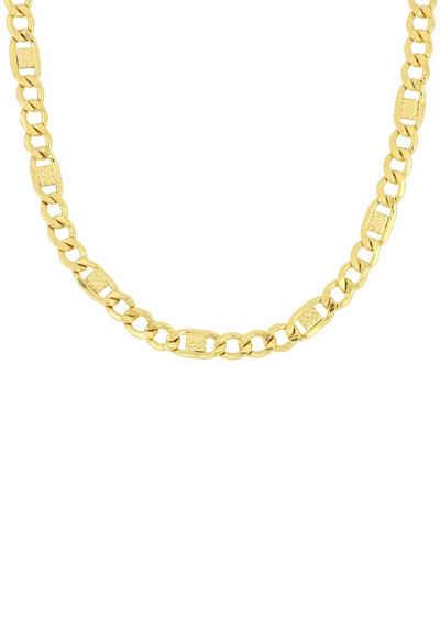 Firetti Goldkette »Fantasiepanzerkette, Glanz, 6-fach diamantiert«