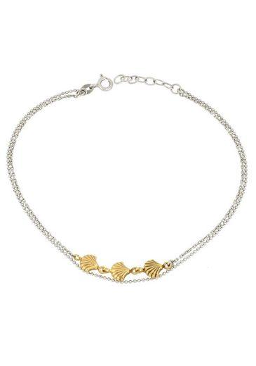 Firetti Fußkette »Muscheln, diamantiert, strukturiert«