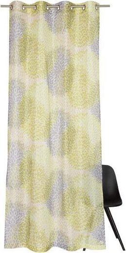 Vorhang nach Maß »Sola«, Ösen (1 Stück), mit zartem Blätterdruck