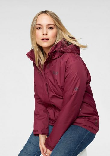 Jack Wolfskin 3-in-1-Funktionsjacke »3in1 ROSS ICE JACKET« (Set, 2-St) aus wasser- & winddichtem Obermaterial
