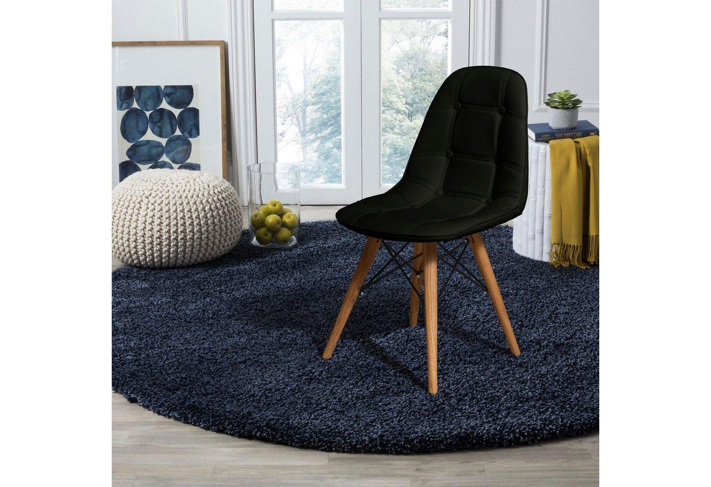 Home affaire 2er-Set Stuhl Scandi mit pflegeleichtem Kunstlederbezug und eleganter Knopfheftung im Sitzbereich schwarz | 05712763014983