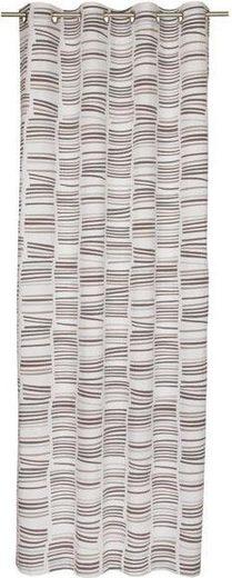 Vorhang nach Maß »Beam«, Ösen (1 Stück), Ösenvorhang mit Querstreifen