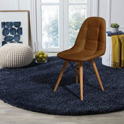 Home affaire Stuhl »Scandi« 2er Set, mit einem schönen massivem Beingestell und einem pflegeleichtem Kunstleder Bezug, Sitzhöhe 46 cm