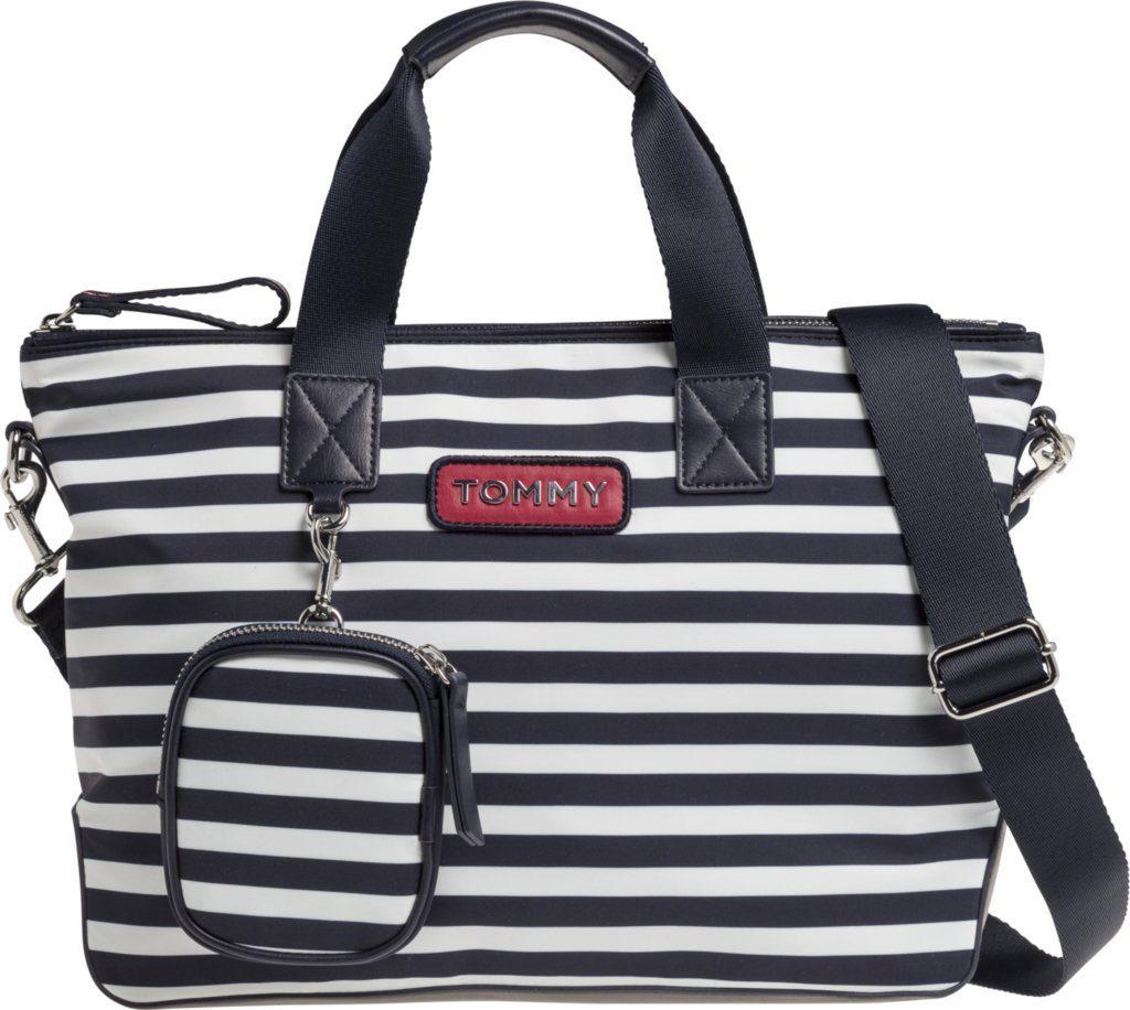 Tommy Hilfiger Handtasche »VARSITY NYLON STRIPE SMALL TOTE«