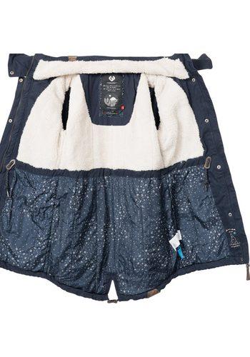 - Damen Ragwear Winterjacke Clancy stylischer Baumwoll Parka mit Kapuze blau   04251490120952