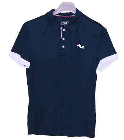 Fila Poloshirt »FILA Popey Polo-Shirt atmungsaktives Herren Tennis T-Shirt Sport-Kleidung mit Stehkragen Blau«