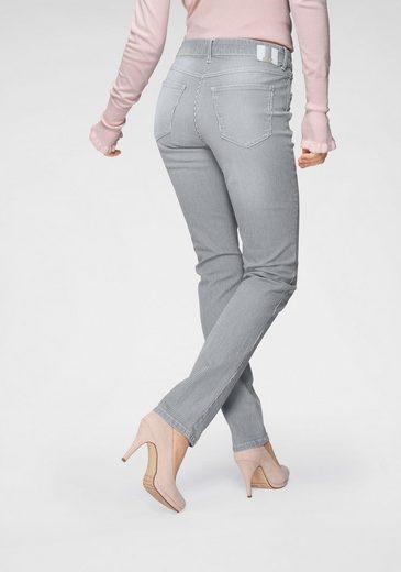 MAC 5-Pocket-Jeans »Angela Stripe« Mit Used-Optik mit Streifen