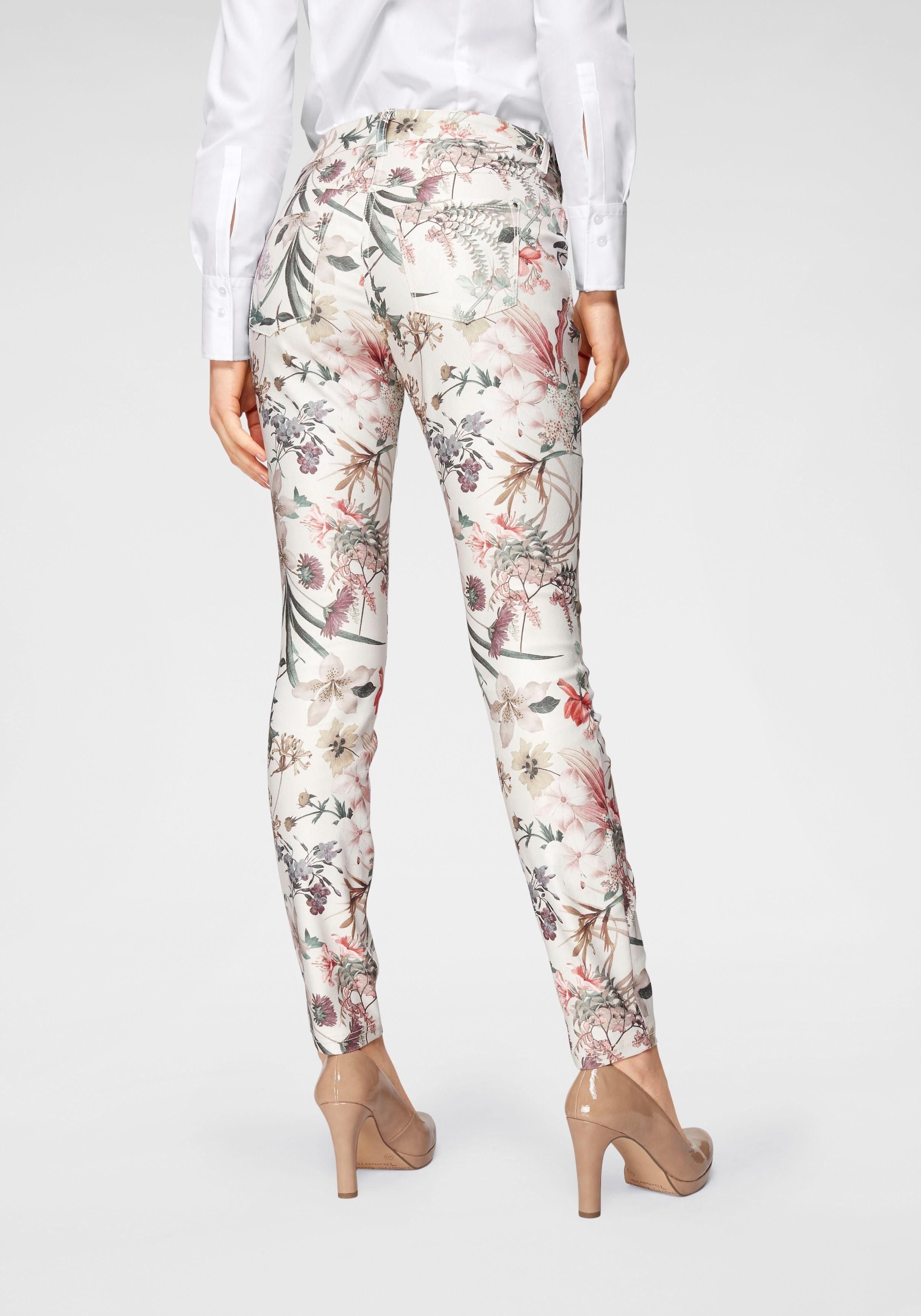 MAC Skinny fit Jeans »Dream Skinny« Allover mit edlem Druck online kaufen | OTTO