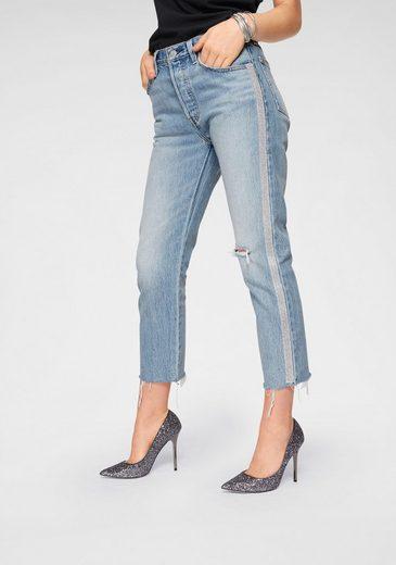 Levi's® 7/8-Jeans »501 Crop Diamond« Straß-besatz an den Seitennähten