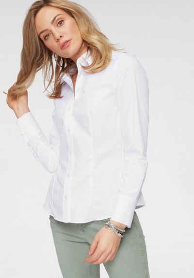 718876182f989f seidensticker Klassische Bluse mit extrabreiten Manschetten