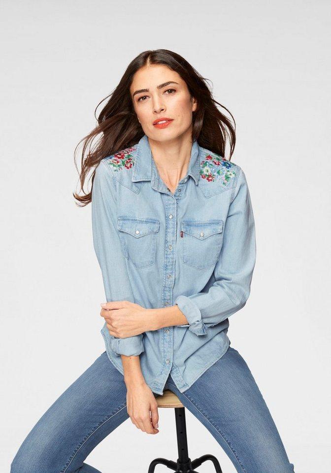 levi´s® -  Jeansbluse »Western Flowers« Aufwendige Stickerei an den Schultern