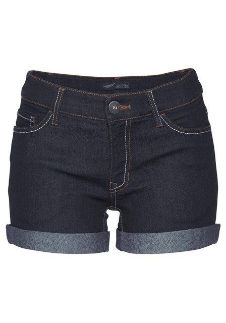 Hosen - Arizona Jeansshorts »Kontrastnähte« Mid Waist als Shorts oder Bermuda tragbar › blau  - Onlineshop OTTO