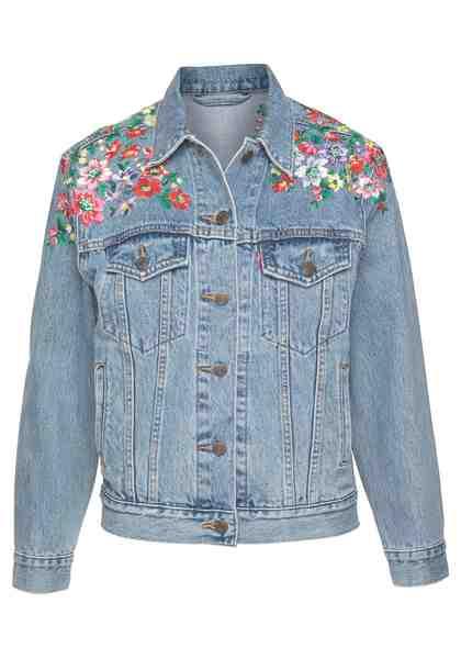 Levi's® Jeansjacke »Trucker-Flower« Mit aufwendiger Stickerei an den Schultern