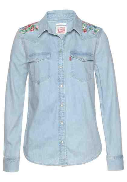 Levi's® Jeansbluse »Western Flowers« Aufwendige Stickerei an den Schultern