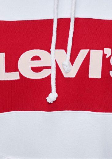»cb Sportswear Colour logo Hoodie« Block Kapuzensweatshirt Marken Levi's® Mit qSR5T6n5w