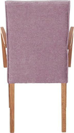 Armlehnstuhl »Nora Premium 2« (2 Stück)  Gestell aus Massivholz