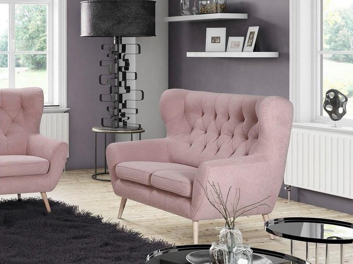 Home affaire 2-Sitzer »VOSS«, mit moderner Knopfheftung