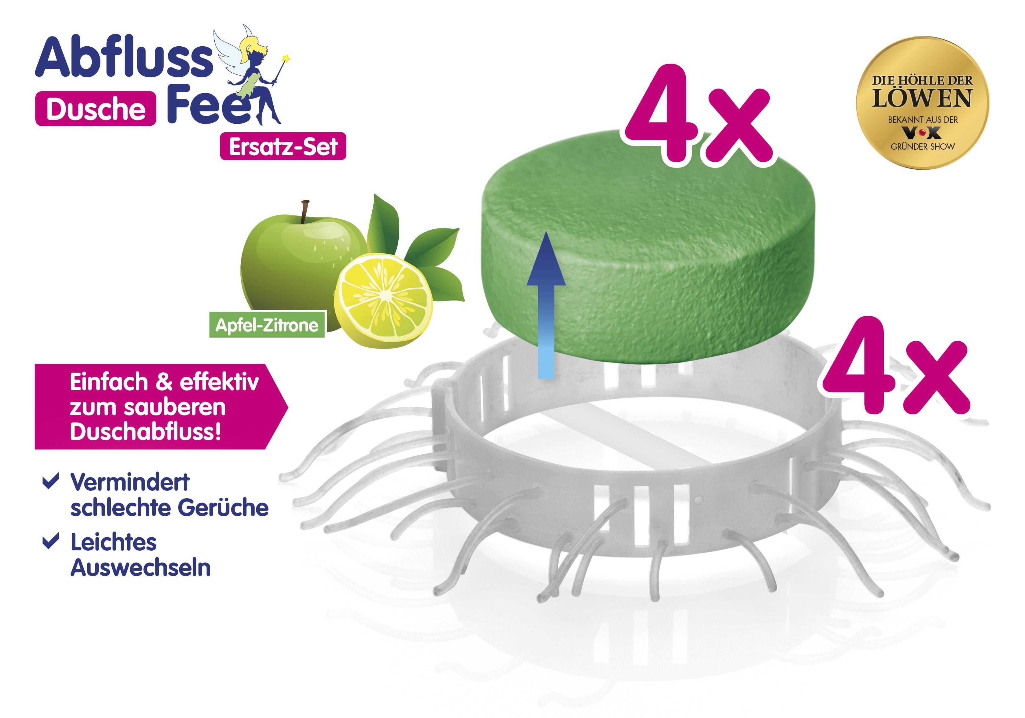 Abfluss Fee Dusche Duftstein Set 8 tlg. grÃŒn Apfel Zitrone