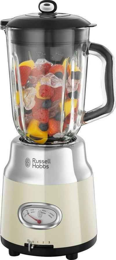 RUSSELL HOBBS Standmixer 25192-56 Retro Vintage, 800 W, 1,5 l Glasaufsatz