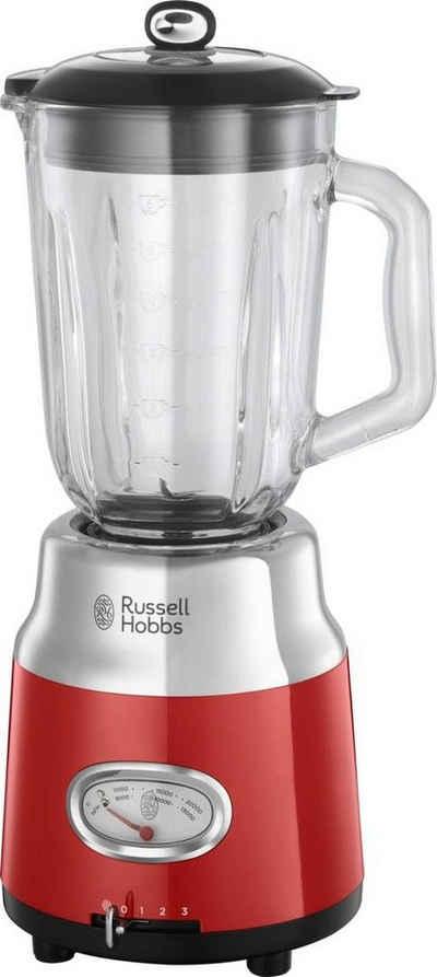 RUSSELL HOBBS Standmixer Retro Ribbon Red 25190-56, 800 W, 1,5 l Glasaufsatz