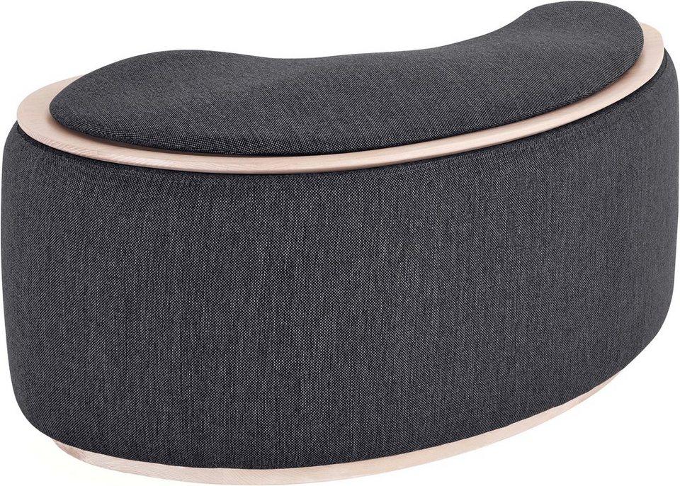 andas beistelltisch mit stauraum larsen in pouf optik. Black Bedroom Furniture Sets. Home Design Ideas