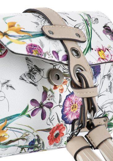 Mit Blumen Mini Tamaris »adelia« Schönem Bag Muster AORHqvH