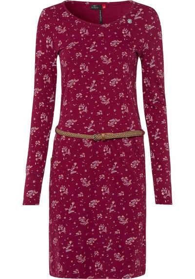 Ragwear Jerseykleid »MONTANA« (2-tlg., mit abnehmbarem Gürtel) mit Flower Allover-Druck