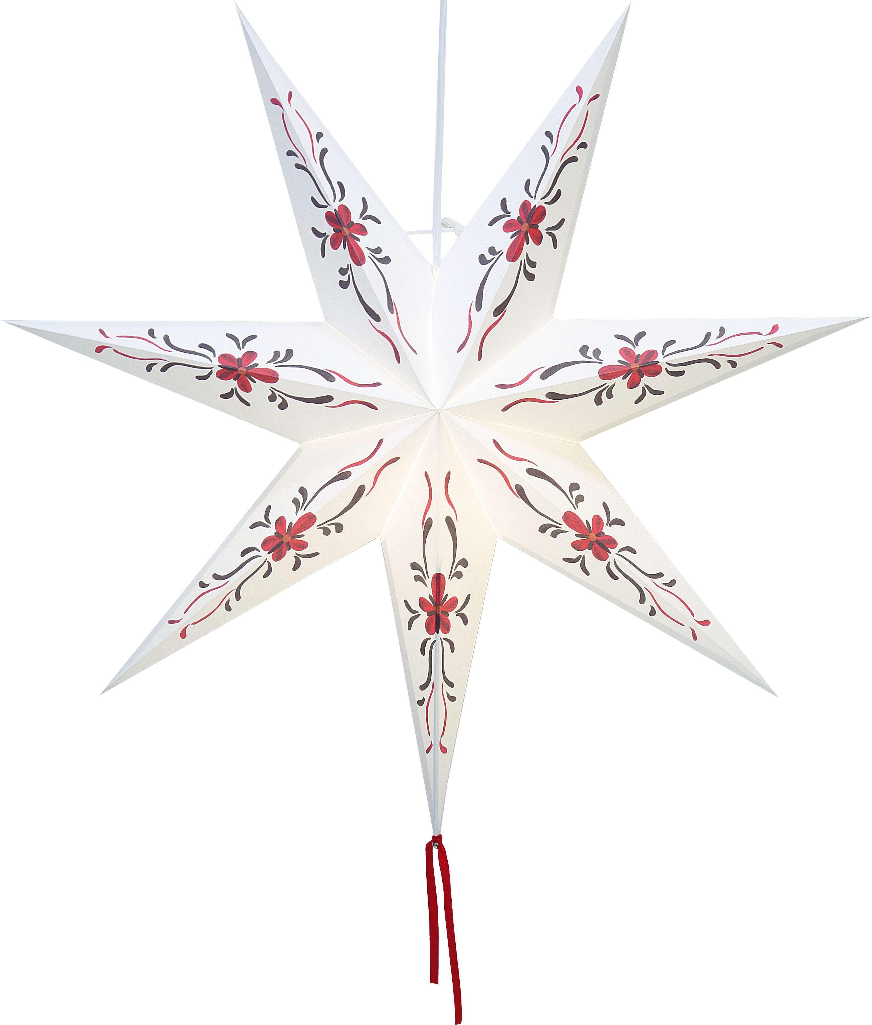 Star Papierstern zum Hängen, mit Kabel »Sundborn«