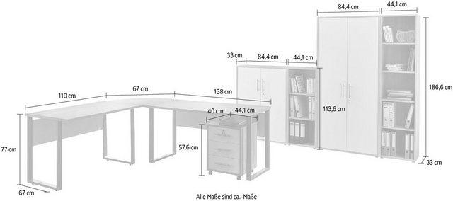 Büromöbel Sets - Büro Set »Tabor Office 4«, (Set, 8 tlg)  - Onlineshop OTTO